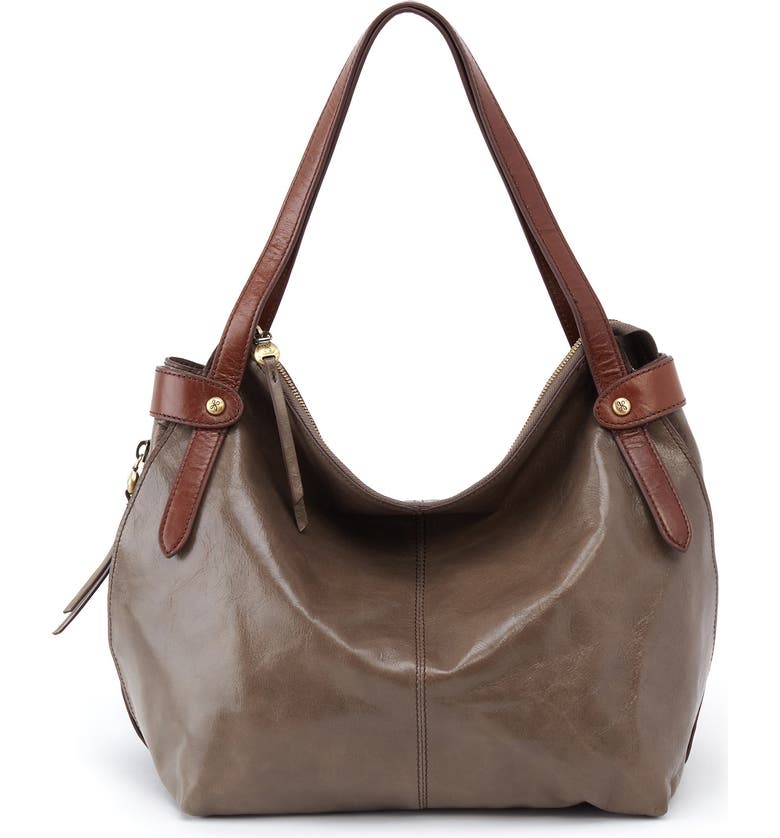 HOBO Elegy Leather Hobo Bag, Main, color, SHADOW