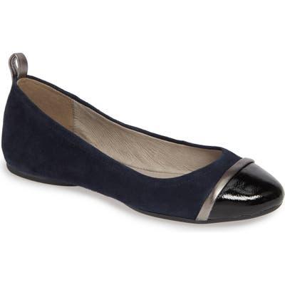 Pelle Moda Willis Cap Toe Flat- Blue
