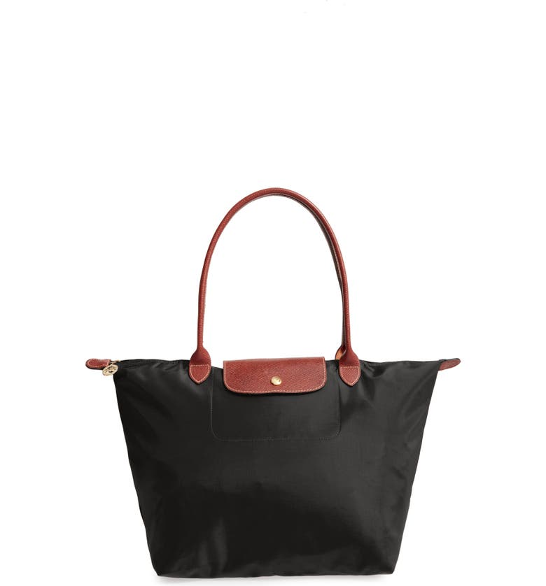 LONGCHAMP Large Le PliageTote, Main, color, BLACK