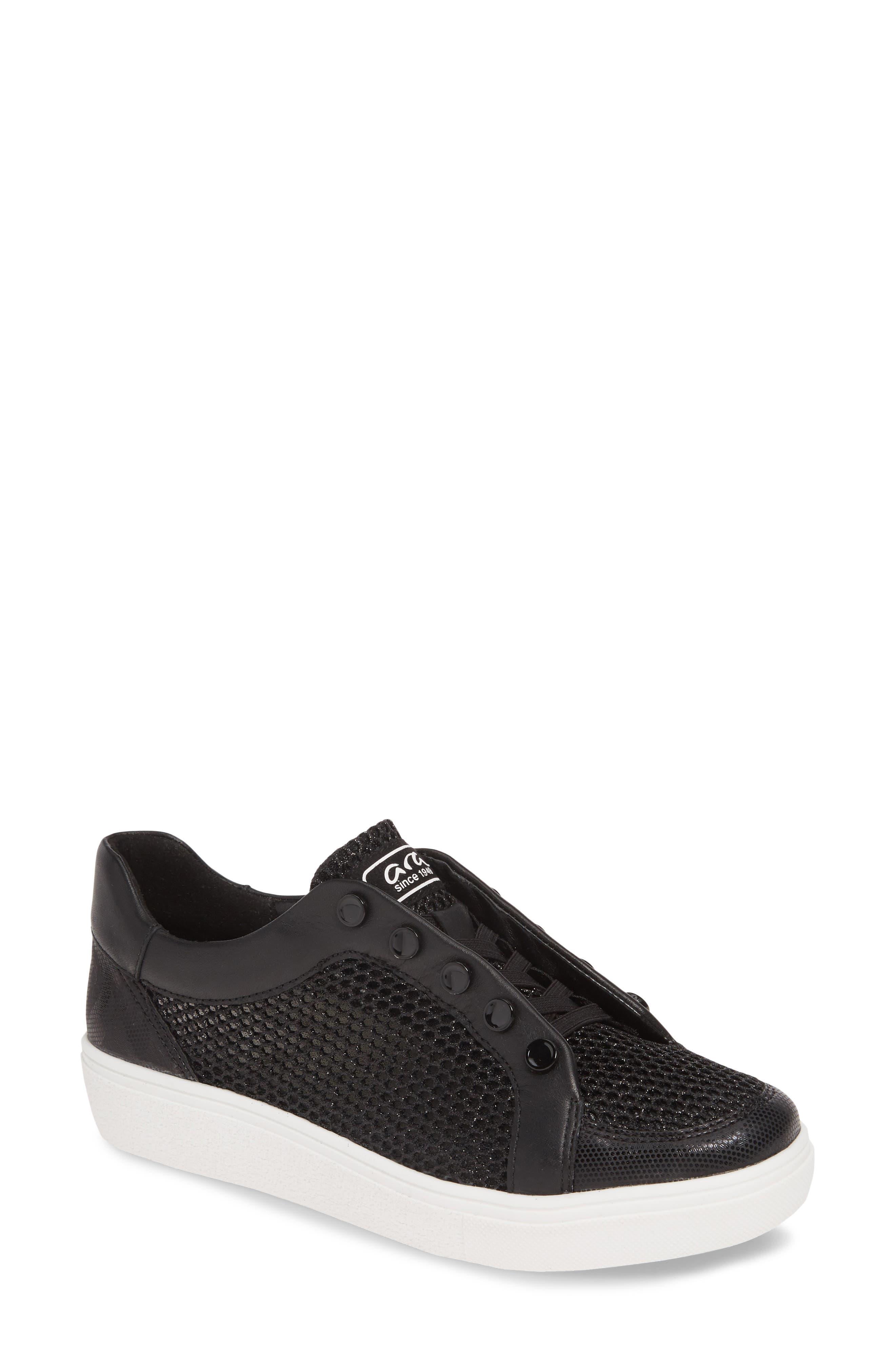 Ara Natasha Slip-On Sneaker- Black