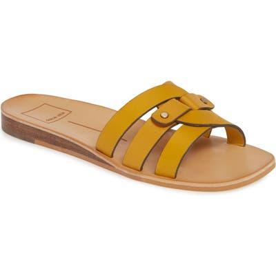 Dolce Vita Cait Slide Sandal, Yellow