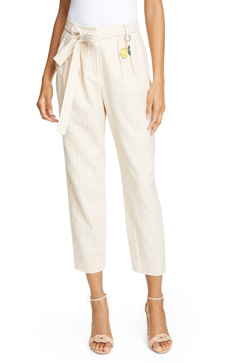 TED BAKER LONDON Colour by Numbers Anzaa Mix Stripe Suit Trousers, Main, color, 900