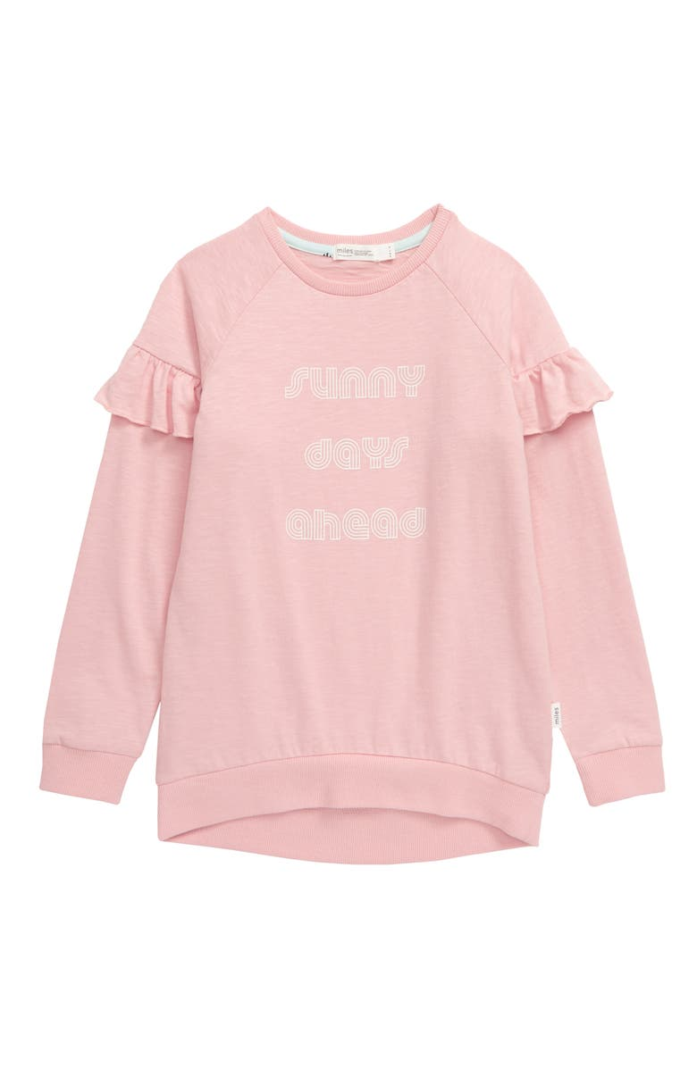 MILES Sunny Days Ahead Shirt, Main, color, LIGHT PINK