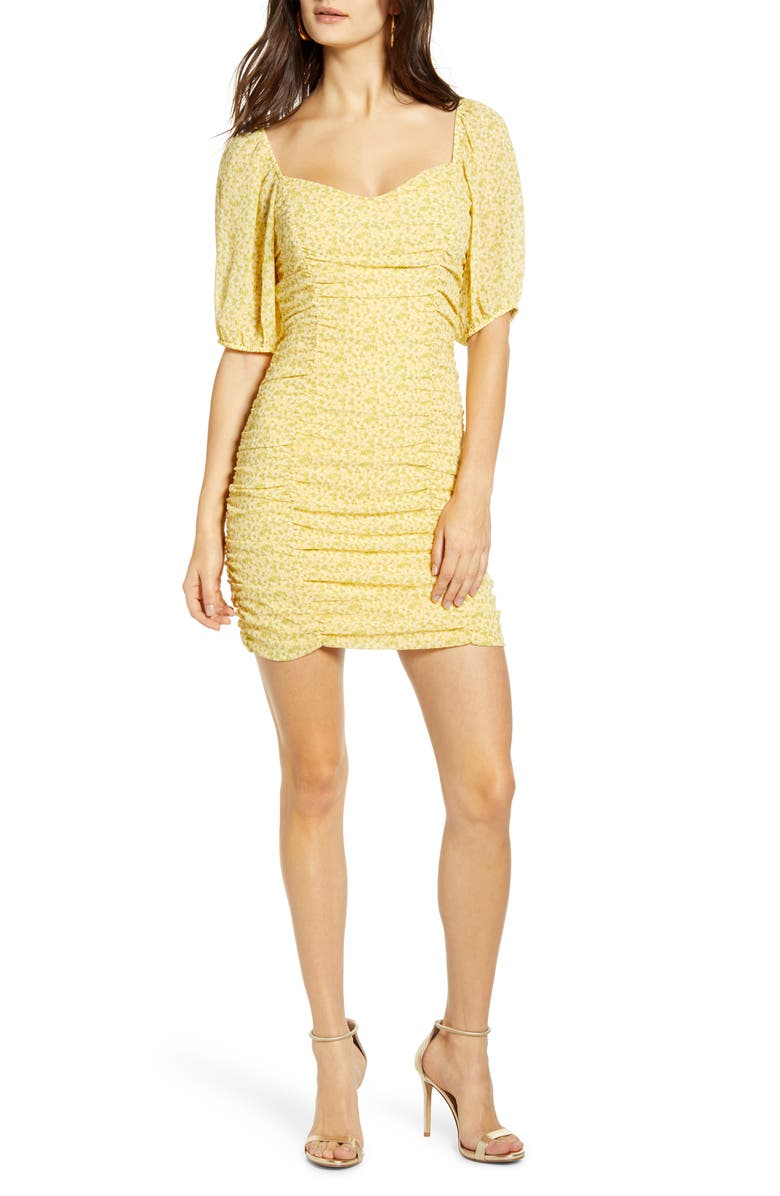 ALL IN FAVOR Sasha Ruched Minidress, Main, color, 700