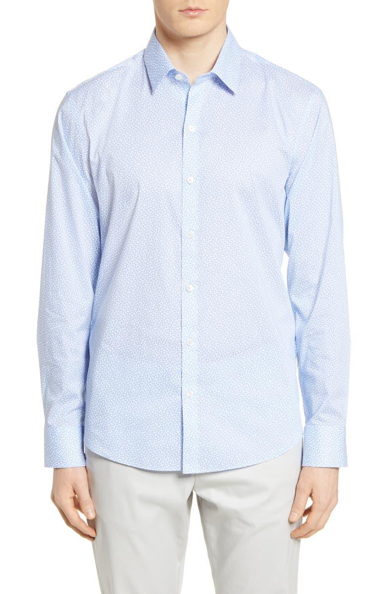 ZACHARY PRELL Jim Classic Fit Geo Print Button-Up Shirt, Main, color, LIGHT BLUE