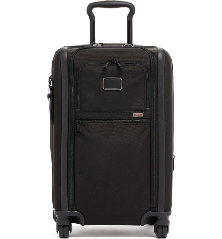 TUMI Alpha 3 International Dual Access Expandable Carry-On, Main, color, BLACK