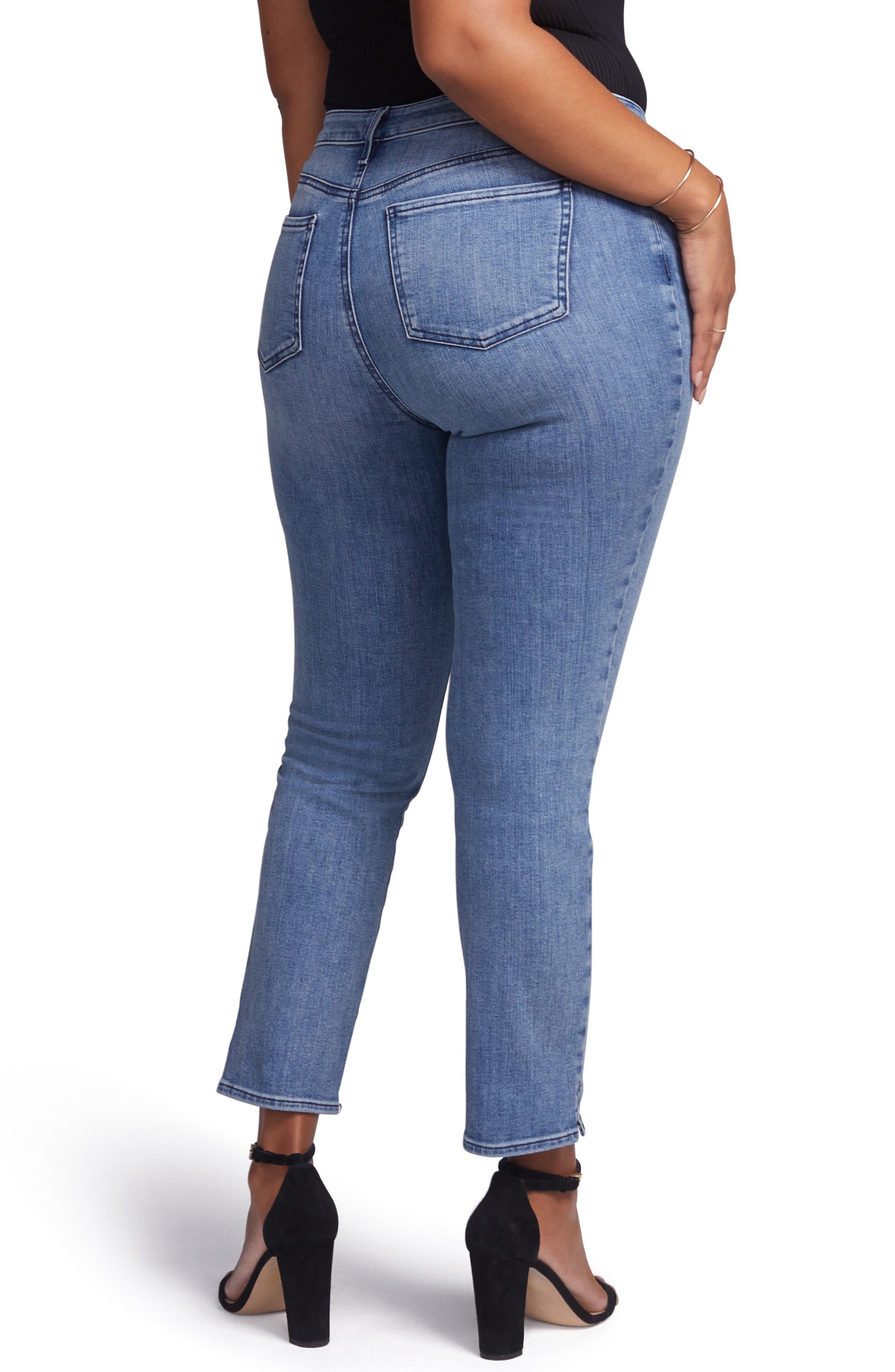 ,                             Slim Ankle Straight Leg Jeans,                             Alternate thumbnail 5, color,                             AQUINO