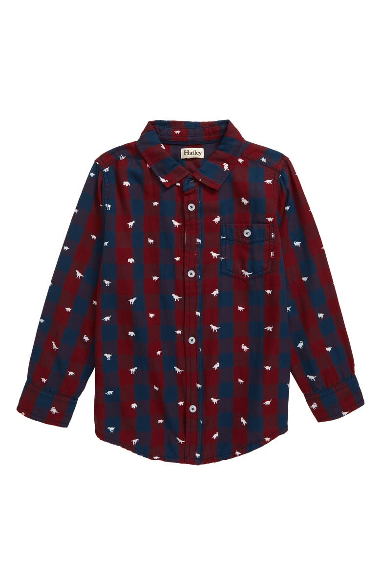 HATLEY Rex Button-Up Shirt, Main, color, RED