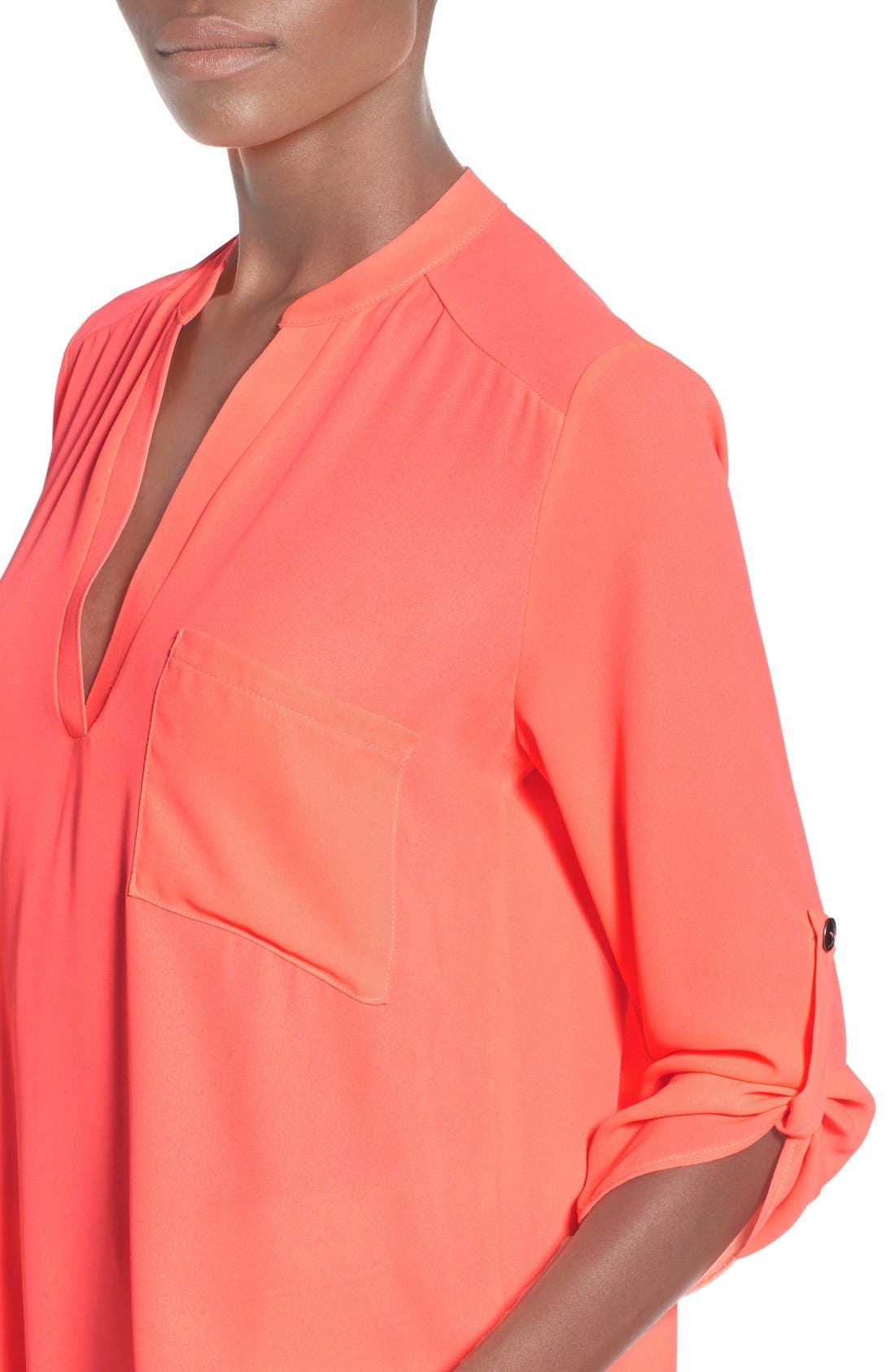 ,                             Perfect Roll Tab Sleeve Tunic,                             Alternate thumbnail 385, color,                             673