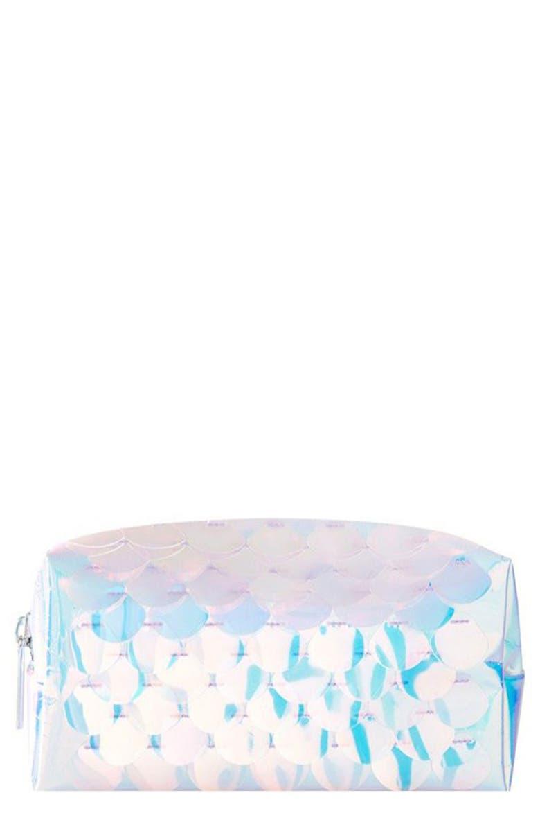 SKINNYDIP Mermaid Makeup Bag, Main, color, NO COLOR