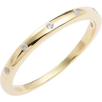 Ela Rae White Zircon Band Ring