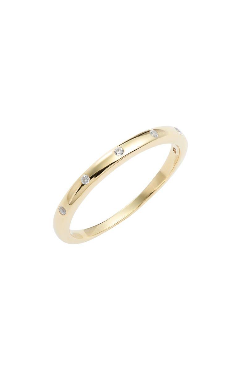 ELA RAE White Zircon Band Ring, Main, color, 710