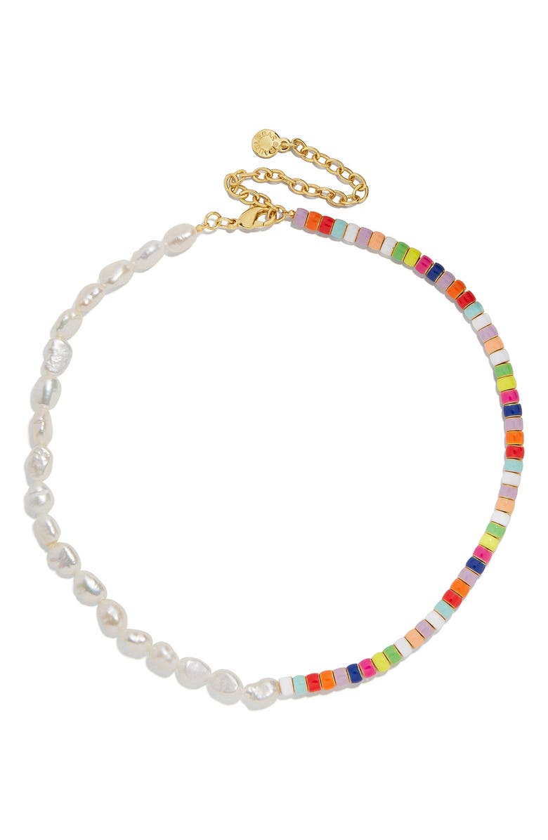 BAUBLEBAR Bead & Keshi Pearl Choker, Main, color, PEARL MULTI
