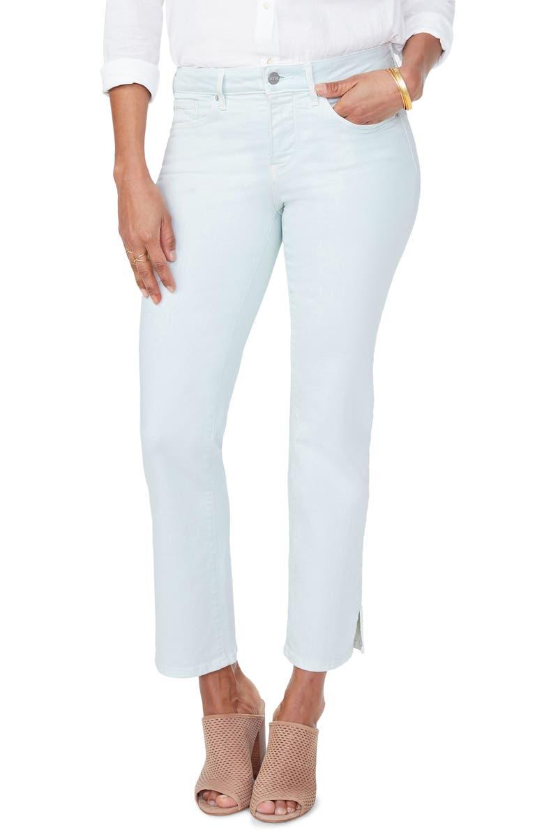 NYDJ Marilyn Ankle Slit Jeans, Main, color, DESERT DEW