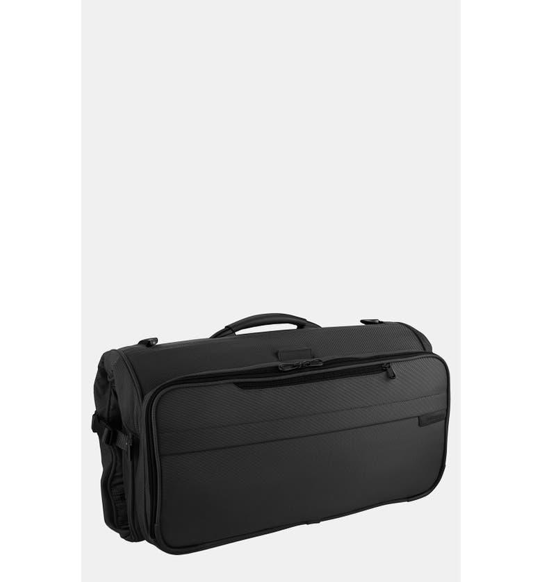 BRIGGS & RILEY Baseline - Compact Garment Bag, Main, color, BLACK