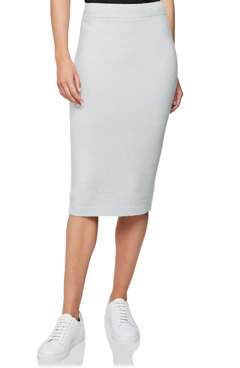 REISS Lilliana Knit Pencil Skirt, Main, color, BLUE