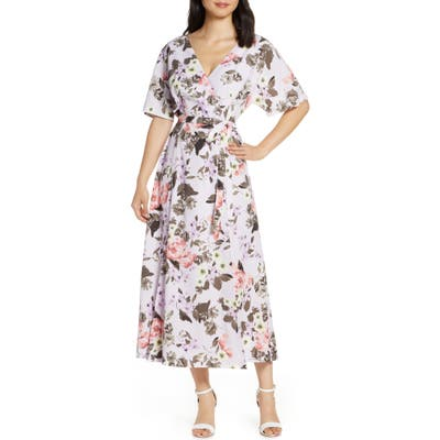 French Connection Armiose Crepe Maxi Dress, Purple
