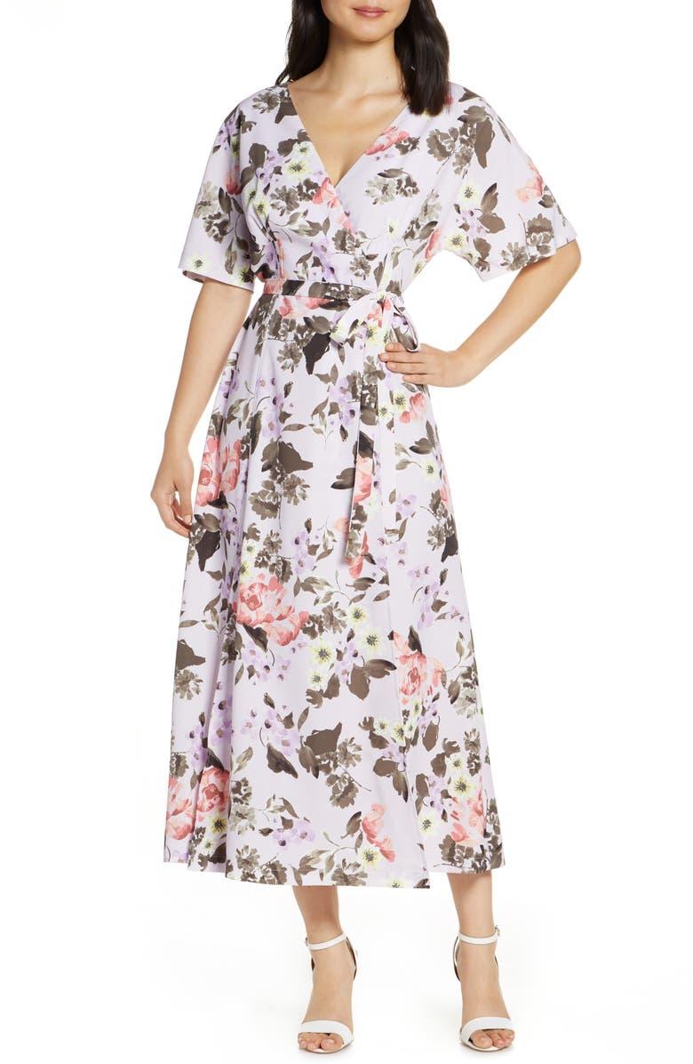 FRENCH CONNECTION Armiose Crepe Maxi Dress, Main, color, 500