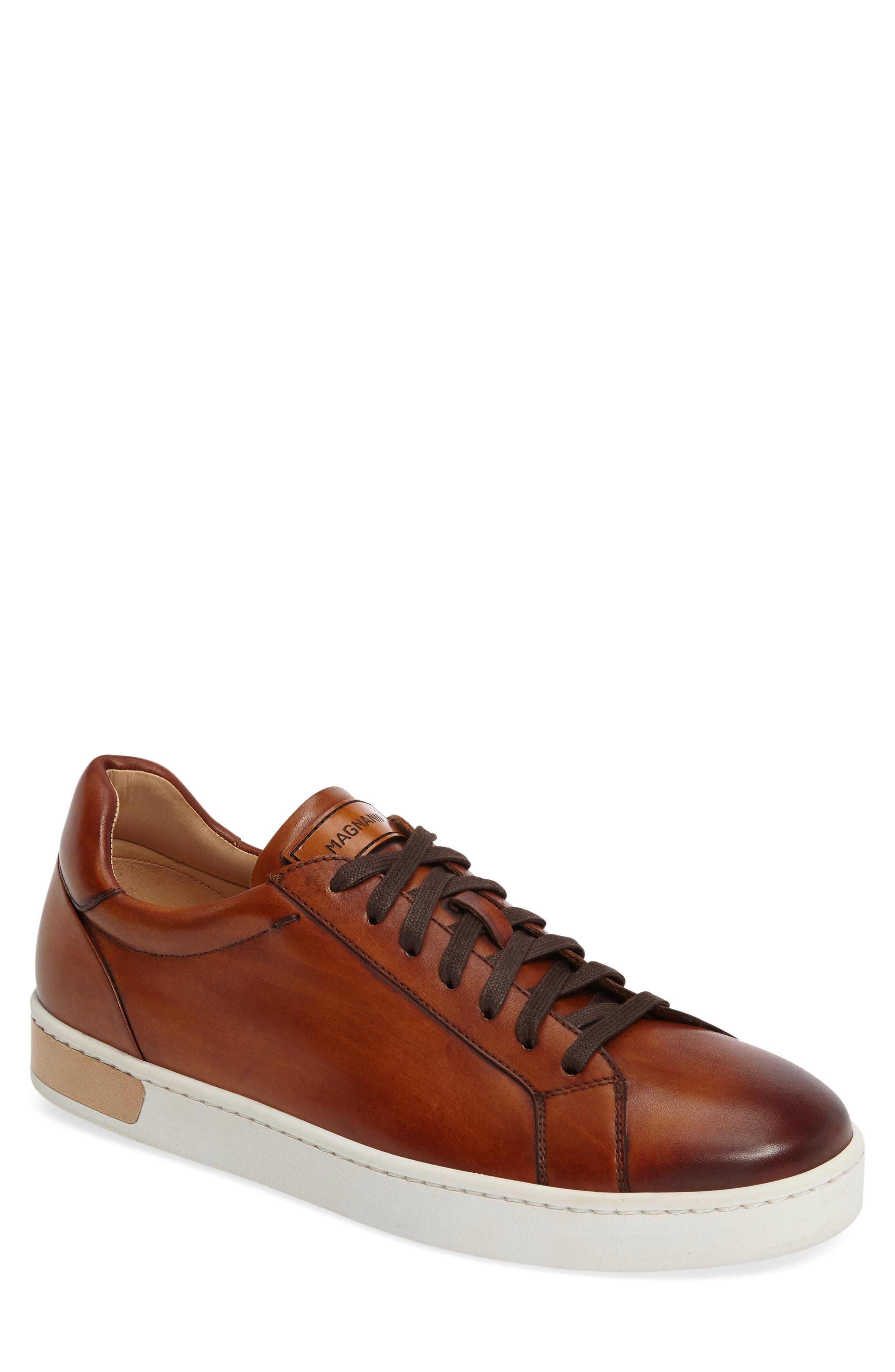 Caballero Sneaker, Main, color, COGNAC LEATHER