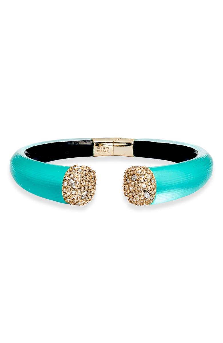 ALEXIS BITTAR Pavé Lucite<sup>®</sup> Hinge Bracelet, Main, color, 440