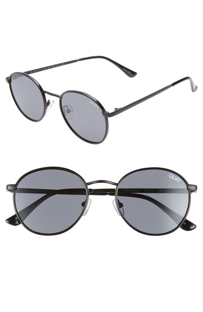 QUAY AUSTRALIA Omen 48mm Sunglasses, Main, color, 001