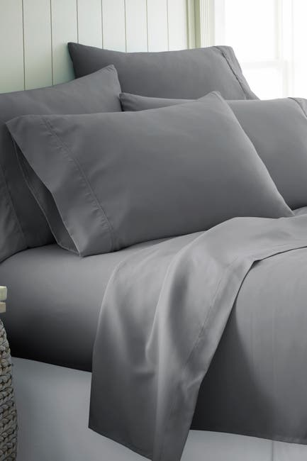 Image of IENJOY HOME Queen Hotel Collection Premium Ultra Soft 6-Piece Bed Sheet Set -Gray