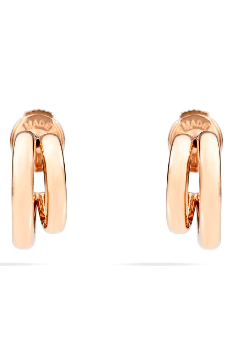 POMELLATO Iconica Huggie Hoop Earrings, Main, color, ROSE GOLD