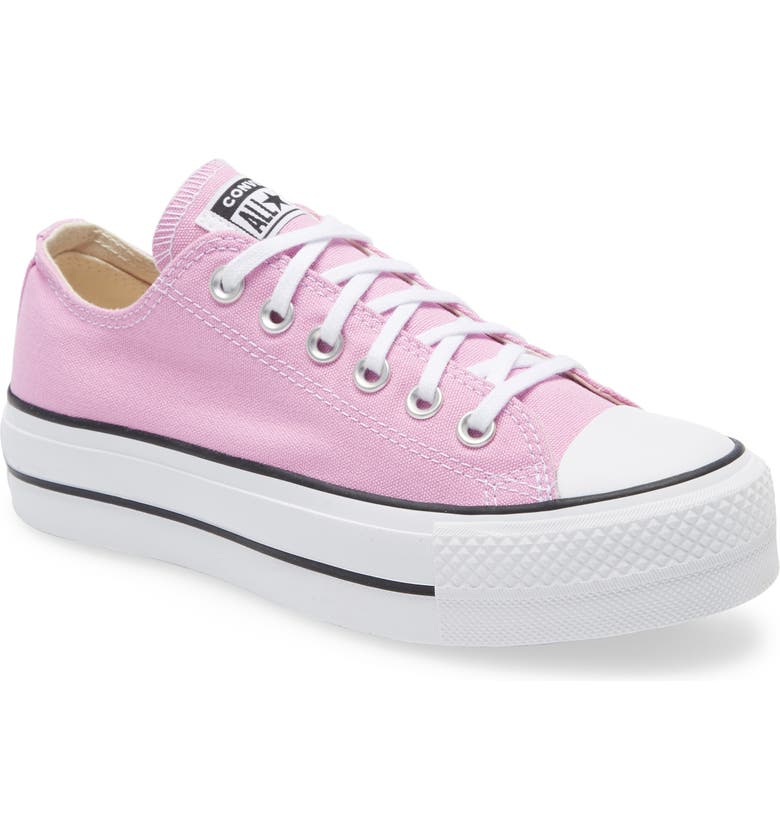 CONVERSE Chuck Taylor<sup>®</sup> All Star<sup>®</sup> Lift Slip-On Sneaker, Main, color, PEONY PINK/ WHITE/ BLACK