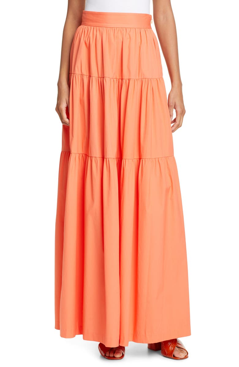 Apricot Maxi Skirt by Staud