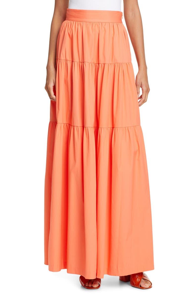 STAUD Apricot Maxi Skirt, Main, color, 801