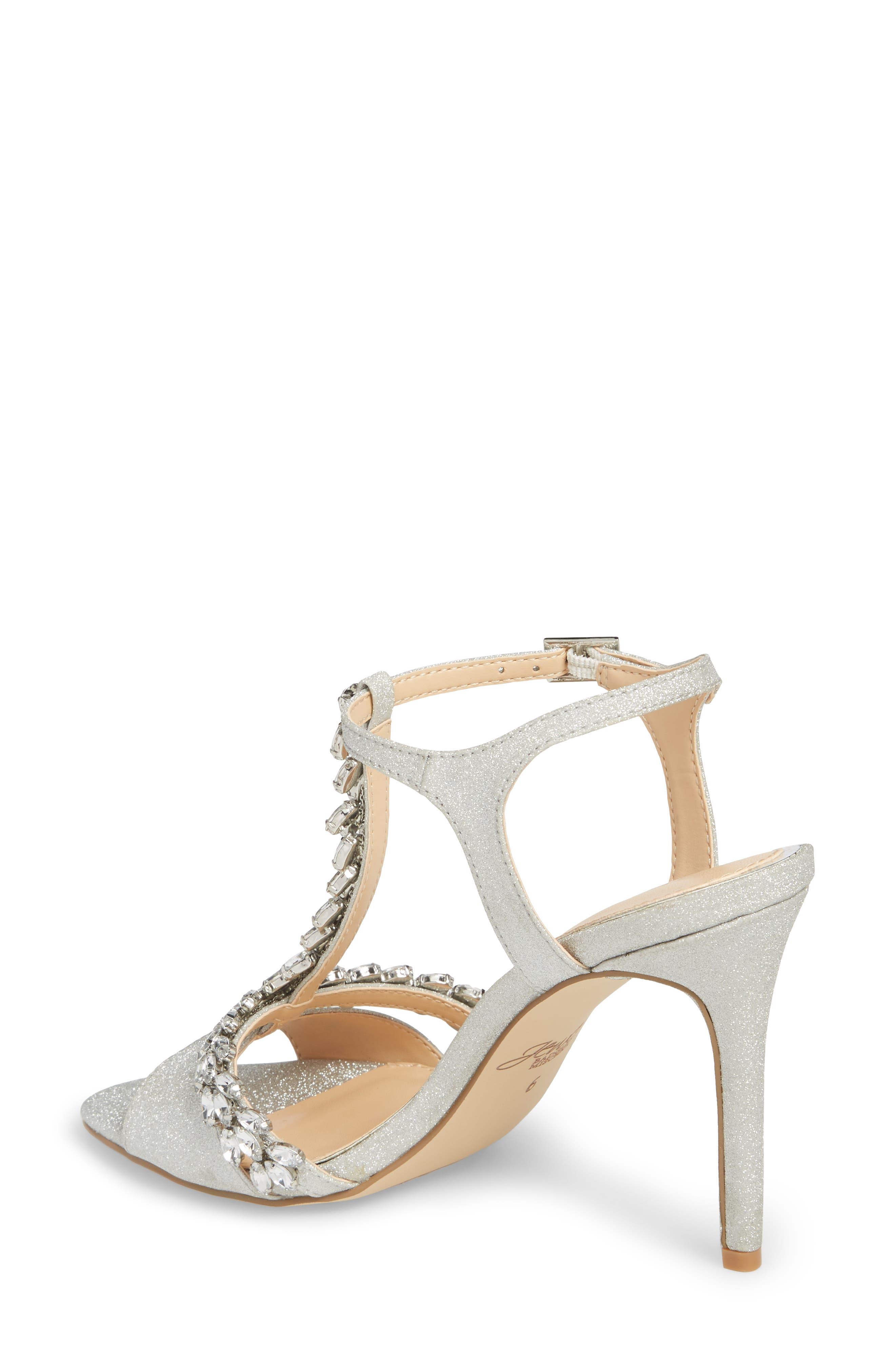 ,                             Maxi Crystal Embellished Sandal,                             Alternate thumbnail 2, color,                             SILVER GLITTER FABRIC