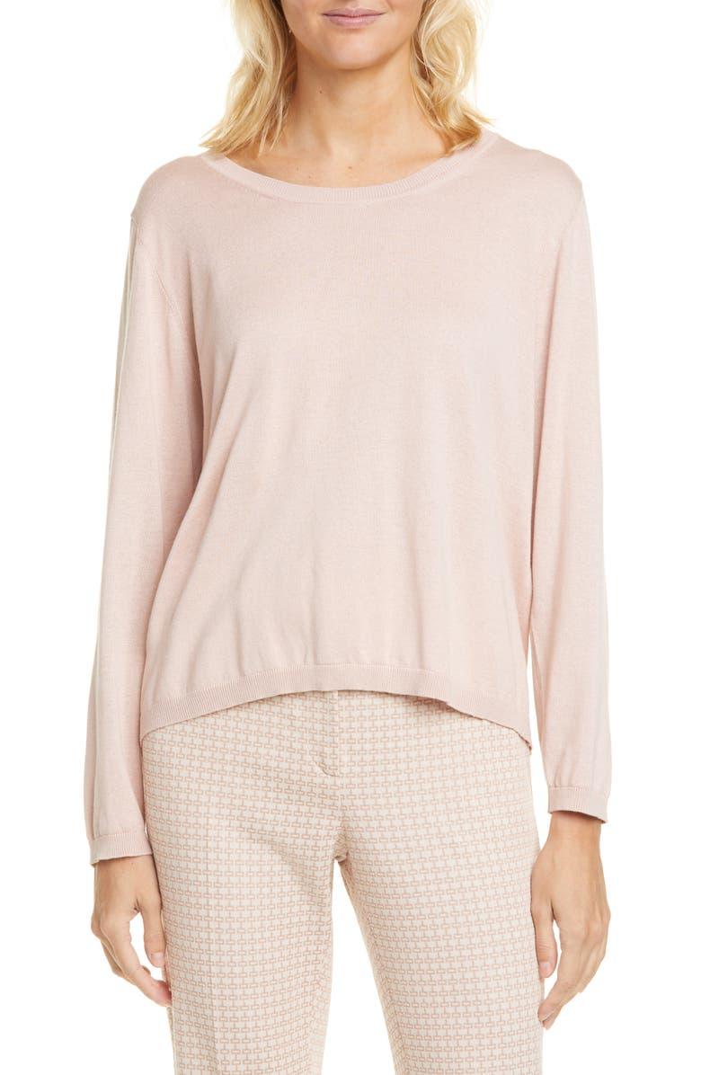 SEVENTY Silk & Cashmere Sweater, Main, color, ROSA