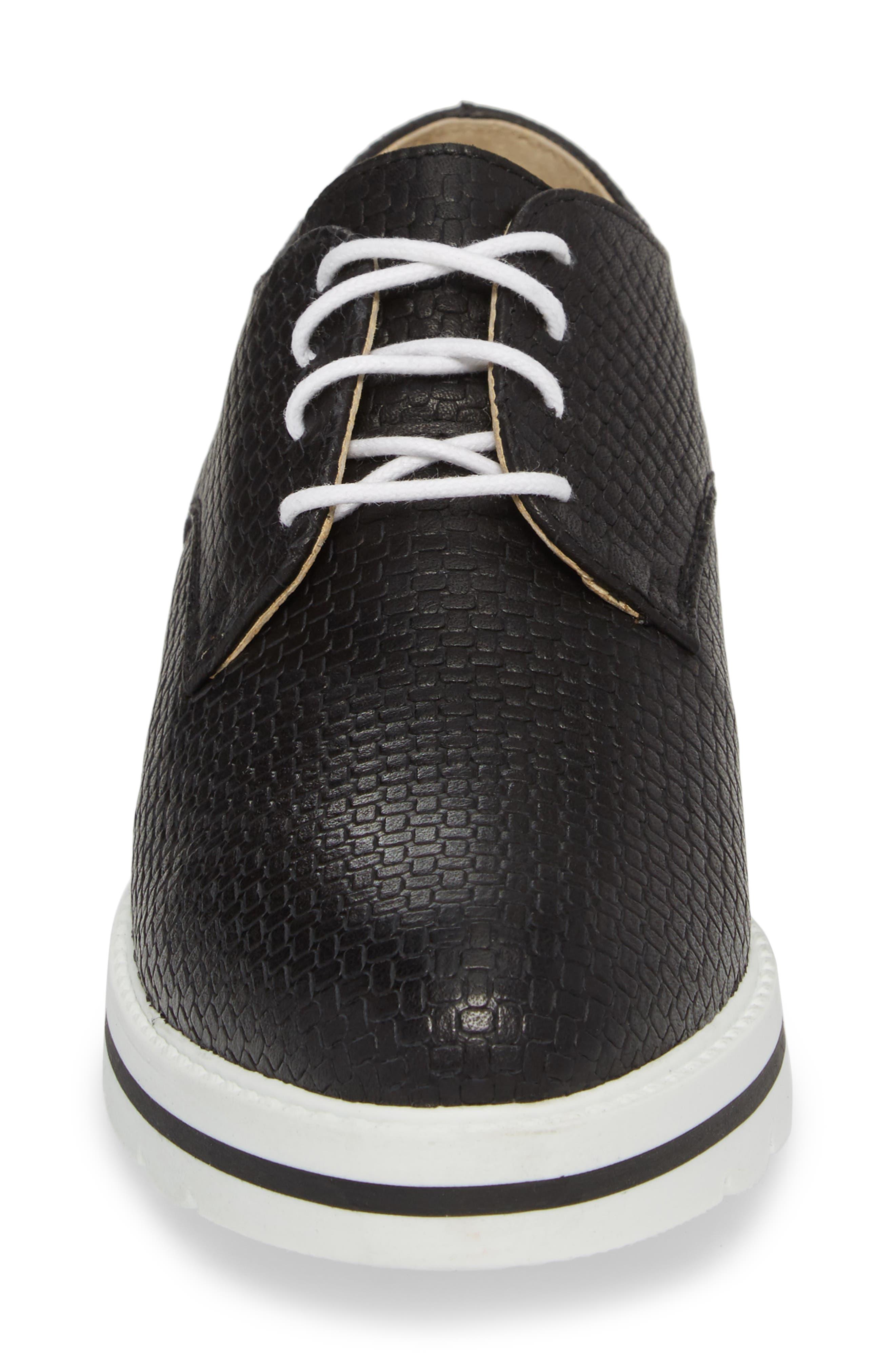 ,                             Lando Sneaker Derby,                             Alternate thumbnail 4, color,                             BLACK SAUVAGE LEATHER