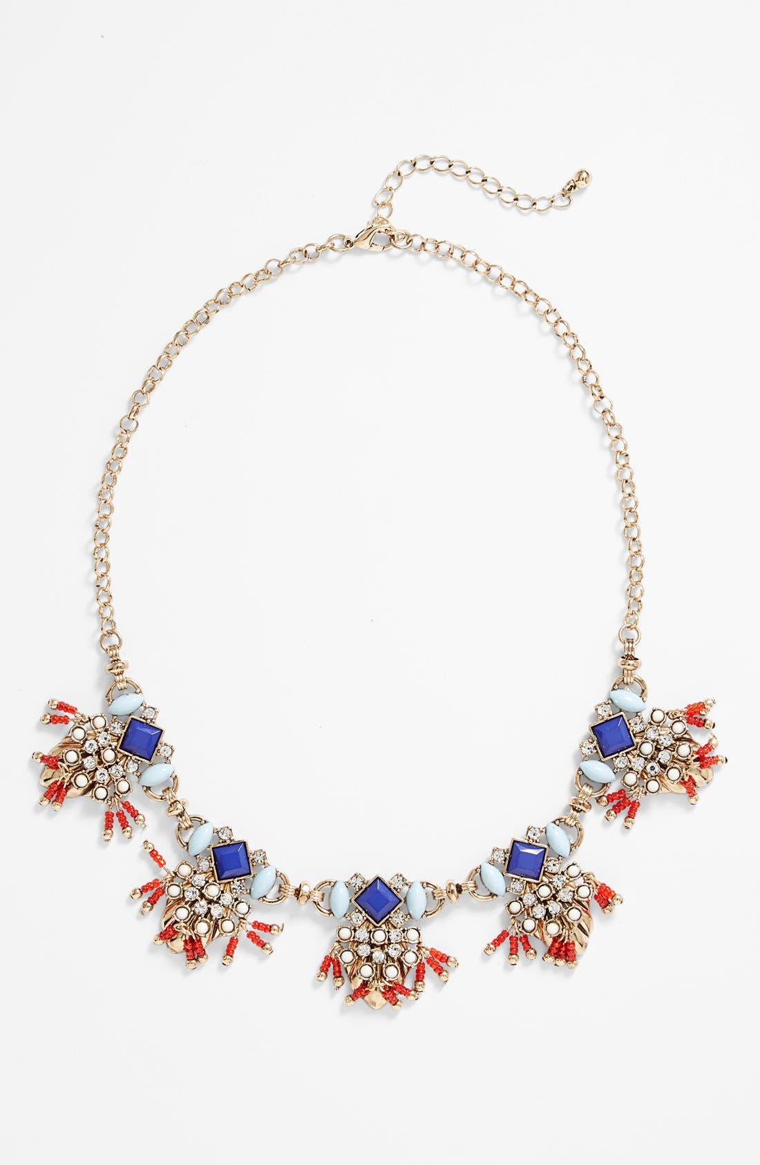 Fringed Statement Necklace, Main, color, 960