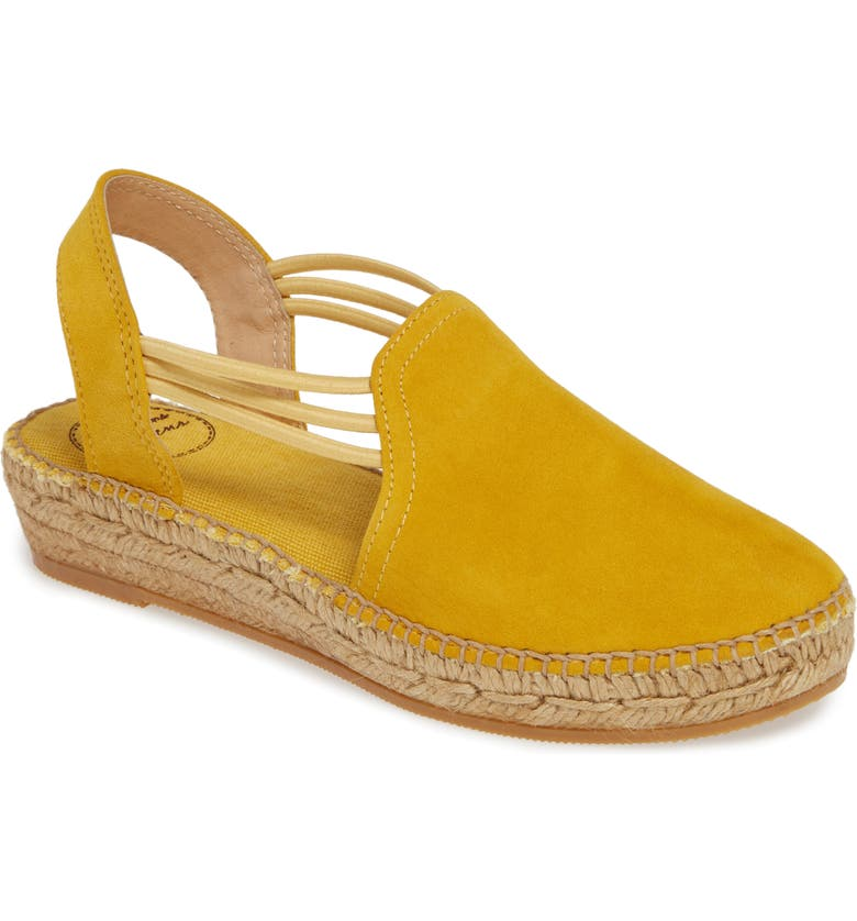 TONI PONS 'Nuria' Suede Sandal, Main, color, YELLOW SUEDE