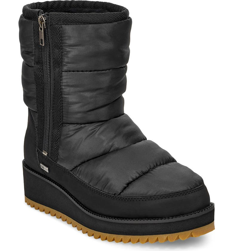 UGG<SUP>®</SUP> Ridge Waterproof Boot, Main, color, BLACK FABRIC