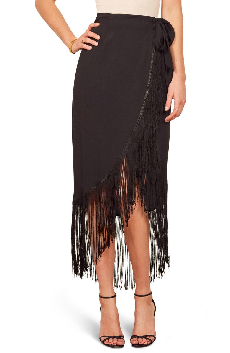 REFORMATION Fiesta Skirt, Main, color, 001