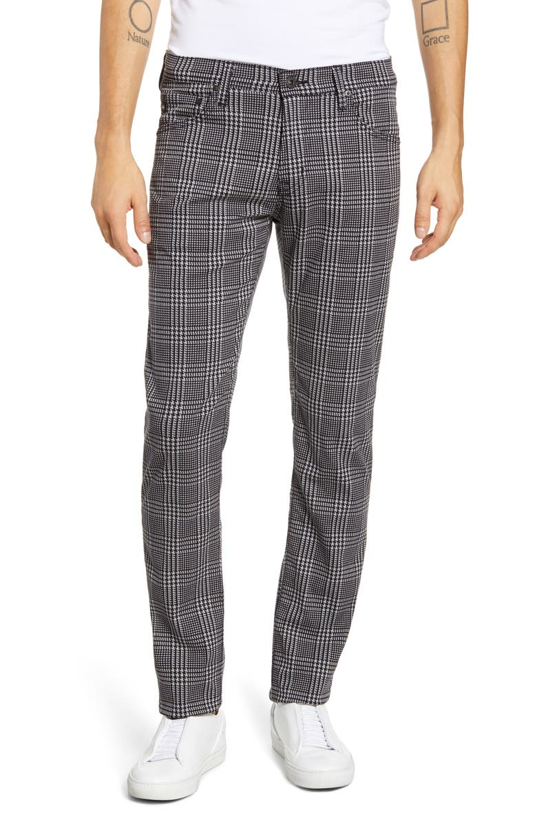 AG Tellis Slim Fit Plaid Five Pocket Pants, Main, color, 020