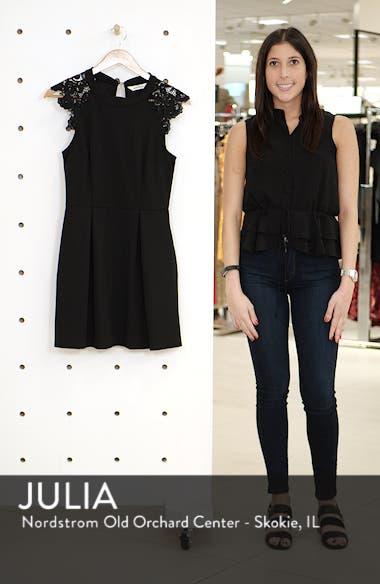 Lace Shoulder Fit & Flare Dress, sales video thumbnail