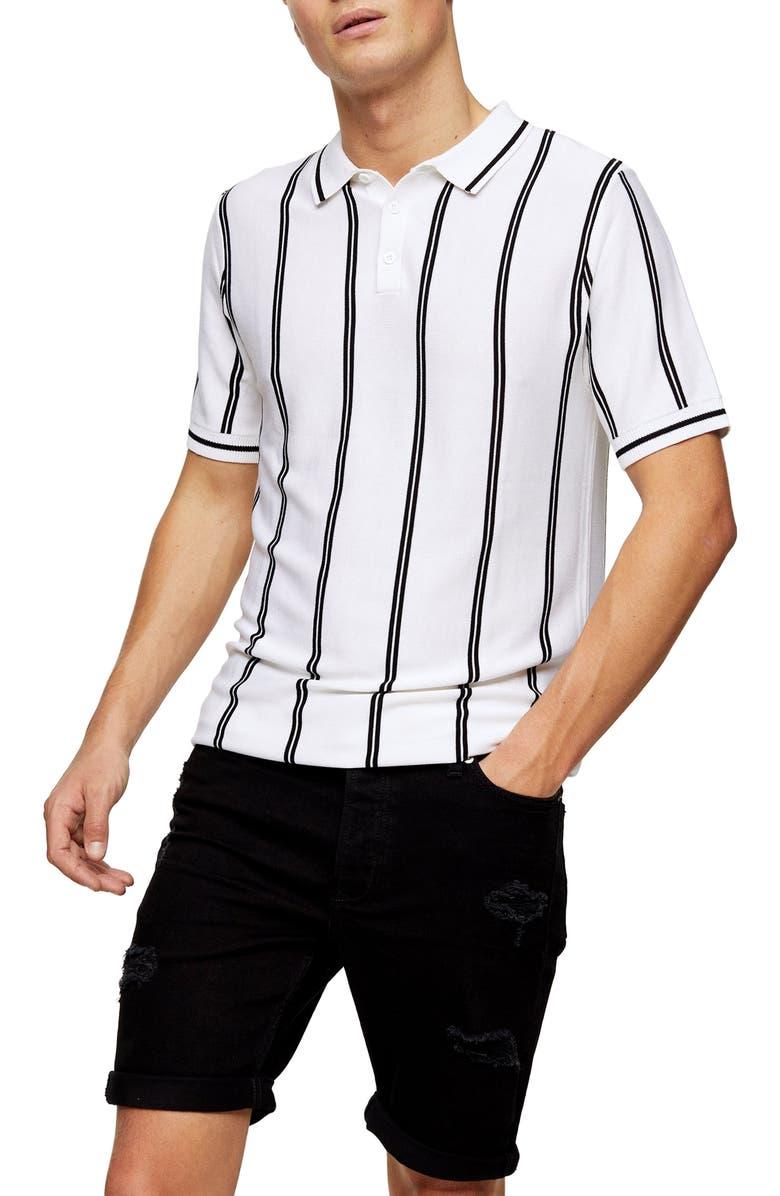 TOPMAN Ripped Skinny Fit Denim Shorts, Main, color, BLACK