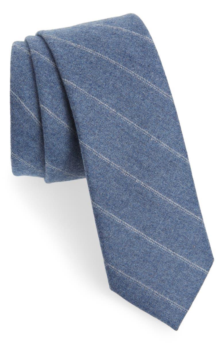 THE TIE BAR Giallo Stripe Wool Tie, Main, color, 450