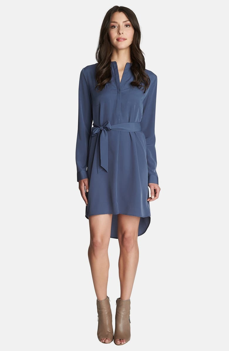 1.STATE Long Sleeve Shirt Dress, Main, color, 400