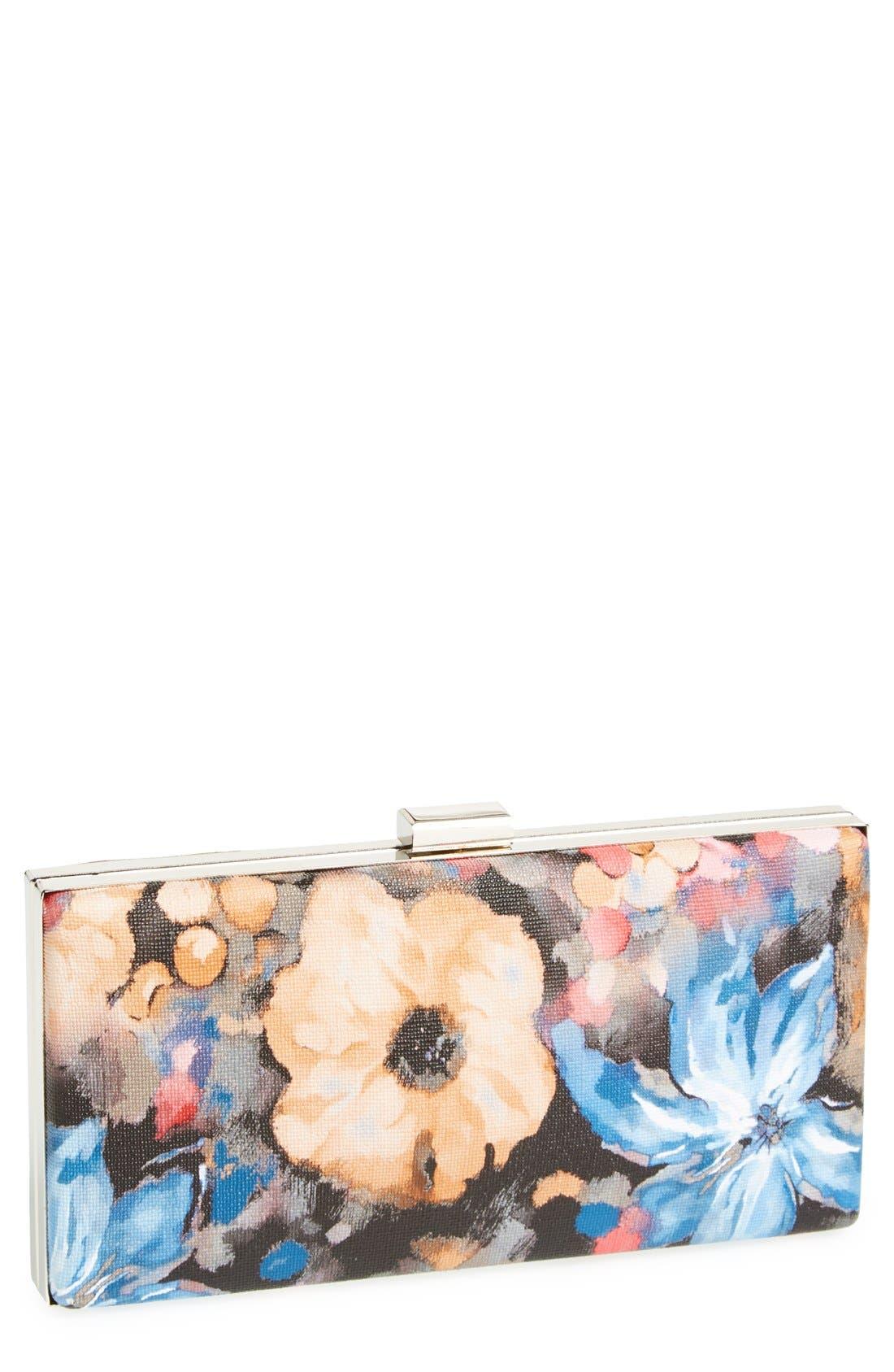 ,                             Natasha Couture 'Watercolor' Box Clutch,                             Main thumbnail 5, color,                             801