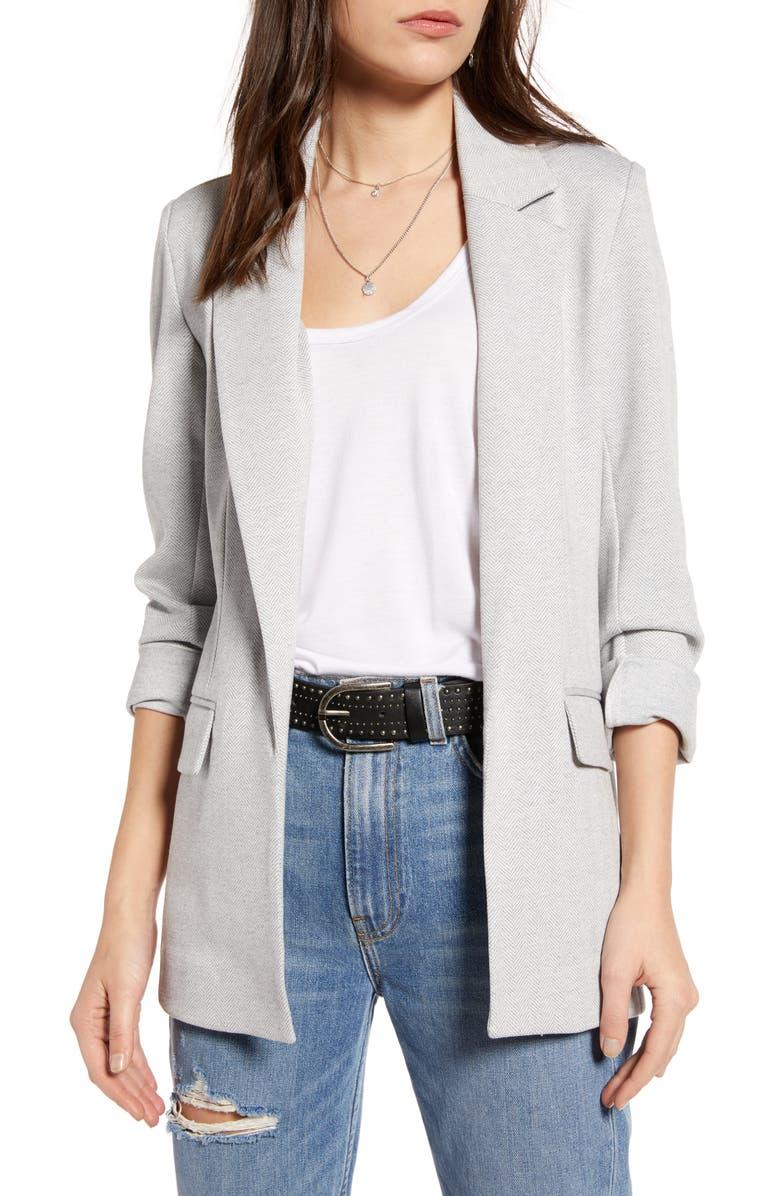 TREASURE & BOND Open Blazer, Main, color, GREY TILE