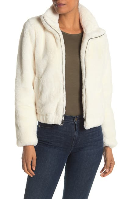 Image of Lucky Brand Missy Two Tone Faux Fur Jacket