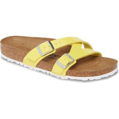 Birkenstock Yao Slide Sandal,7.5 - Yellow