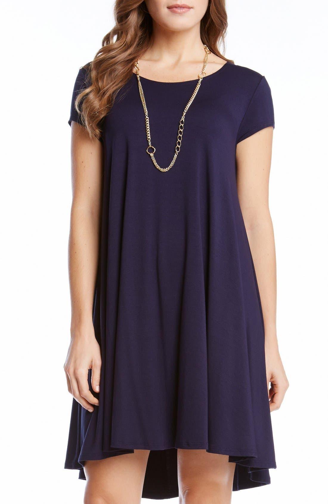 ,                             'Maggie' Cap Sleeve Trapeze Dress,                             Main thumbnail 17, color,                             410
