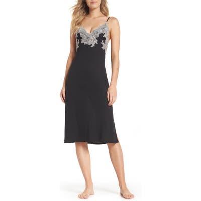 Natori Luxe Shangri-La Nightgown, Black