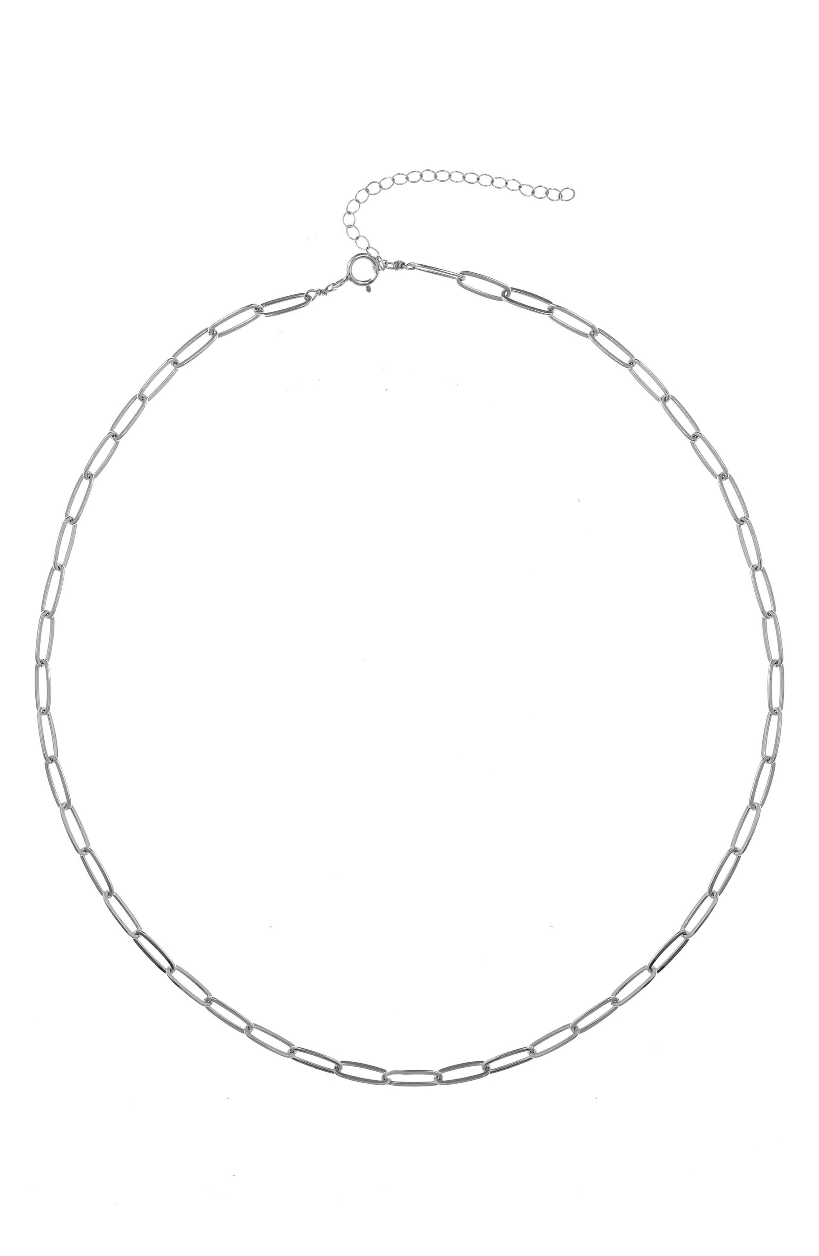 Nora Paper Clip Link Necklace