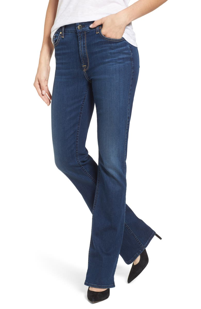 JEN7 BY 7 FOR ALL MANKIND Slim Bootcut Jeans, Main, color, RICHE TOUCH MEDIUM BLUE